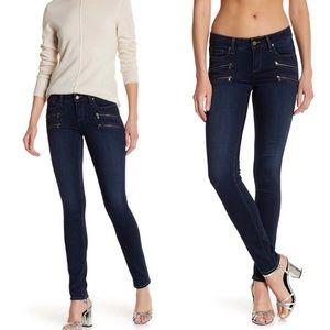 Paige edgemont ultra skinny dark wash jeans 28